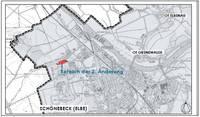 Übersichtplan zur Lage im Stadtgebiet ohne Maßstab