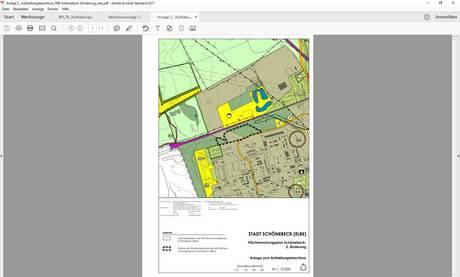 Plangebiet Flächennutzungsplan 2. Änderung