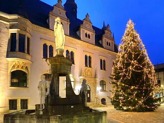 Weihnachtsbaum2020 ©Stadt Schönebeck (Elbe)