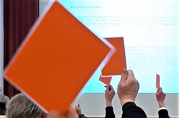 Abstimmung per Karte im STadtrat