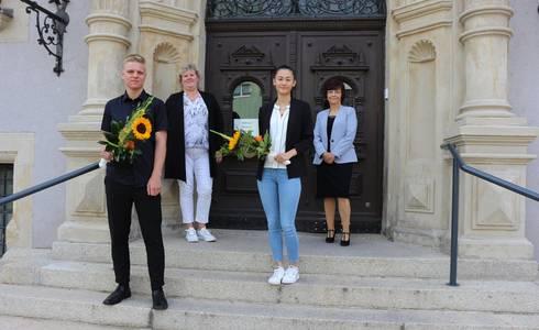 Foto v.l.n.r.: Paul Engler, Yvonne Fleissner, Elisabeth Singer, Gisela Schröder