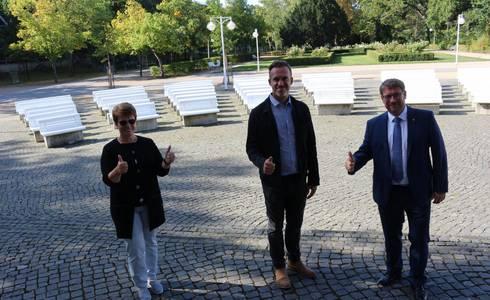 Foto: v.l.n.r.: Sibylle Schulz, Stephan Trappe, Bert Knoblauch