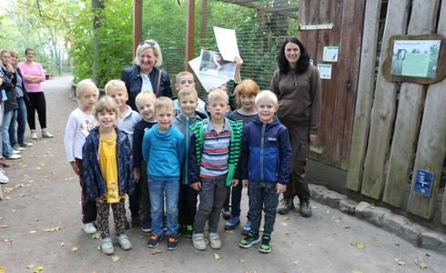 Erstklässler(innen) der Zinsendorfschule in Gnadau
