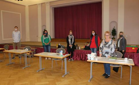 Wahllokal Tolberg Saal ©Stadt Schönebeck