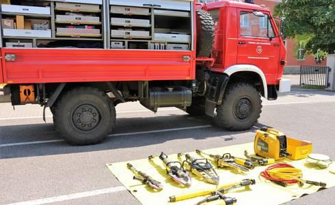 Feuerwehr Auto Geräte